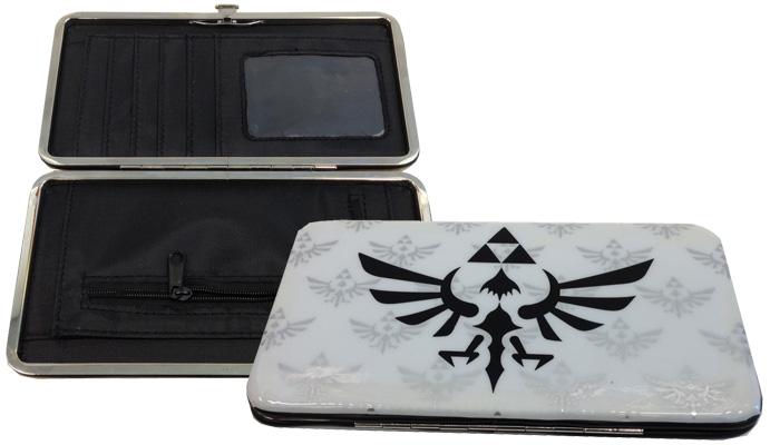 Legend of Zelda Skyward Sword Triforce Logo White Hinged Wallet