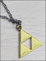 Legend of Zelda Silver Chained Triforce Necklace