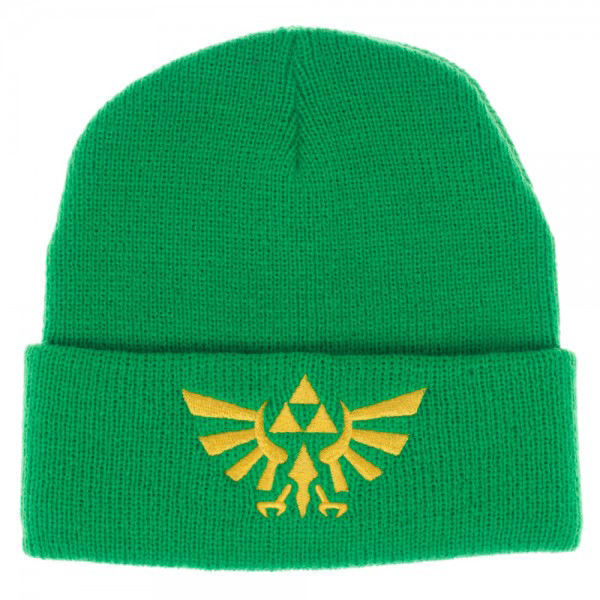 Legend of Zelda Logo Green Single Layer Cuff Beanie