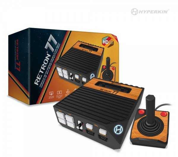 RetroN 77 HD Gaming Console for Atari 2600 by Hyperkin box and game system