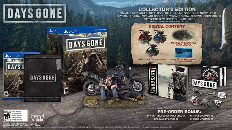 Days Gone Collectors Edition all bonus material