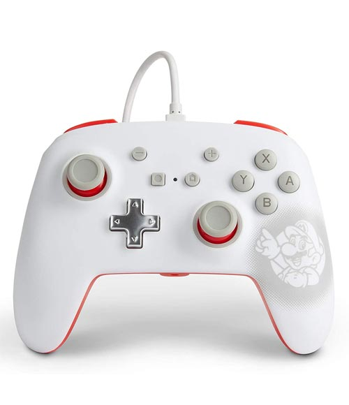 Nintendo Switch Wired Controller Super Mario White