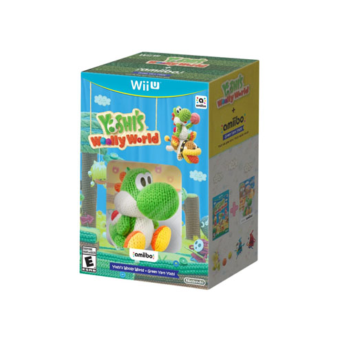 Yoshi's Woolly World & amiibo Green Yarn Yoshi Bundle