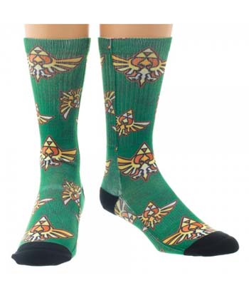 Legend of Zelda Crest Sublimated Crew Socks