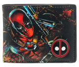 Marvel Deadpool Bi-Fold Wallet with Metal Badge
