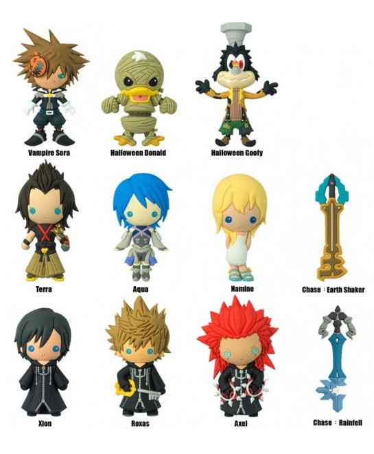 Kingdom Hearts Series  Laser Cut Figural Keyrings Merchandise