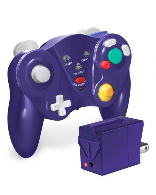 GameCube Cirka FreePad Wireless Controller Purple