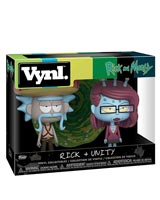 Rick & Morty Rick with Sombrero & Unity Vynl Figure 2-Pack