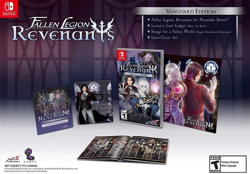 Switch Fallen Legion Revenants Vanguard Edition all items