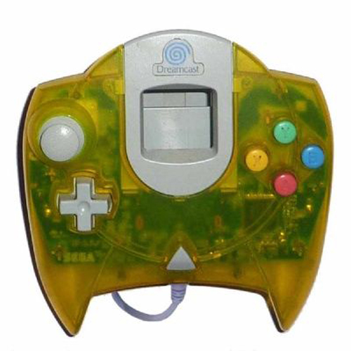 Dreamcast Controller Clear Yellow by Sega