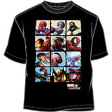 Marvel vs Capcom Battle Blox T-Shirt LG (Black)