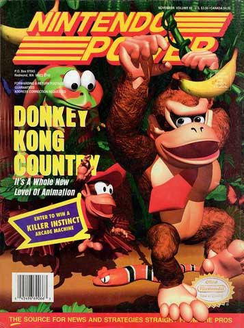 Nintendo Power Magazine Volume 66 Donkey Kong Country