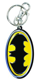 DC Heroes Batman Symbol Pewter Keychain