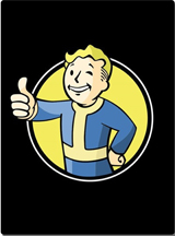 Fallout Vault Boy Black Blanket