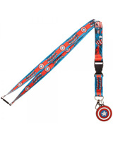 Marvel Captain America Logo Lanyard With Charm