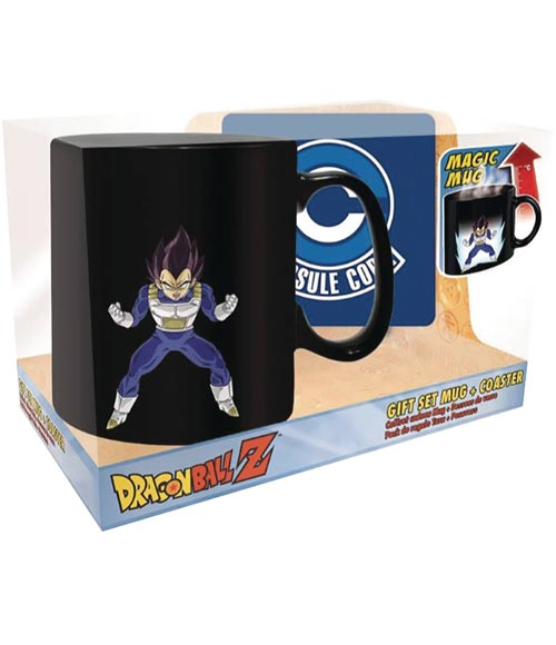 Dragon Ball Z Vegeta Magic Mug & Coaster Set