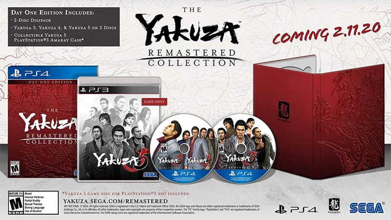 Yakuza Remastered Collection Day One Edition all items