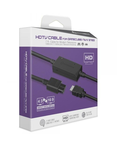 3-in-1 HDTV Cable for GameCube, Nintendo 64, Super Nintendo