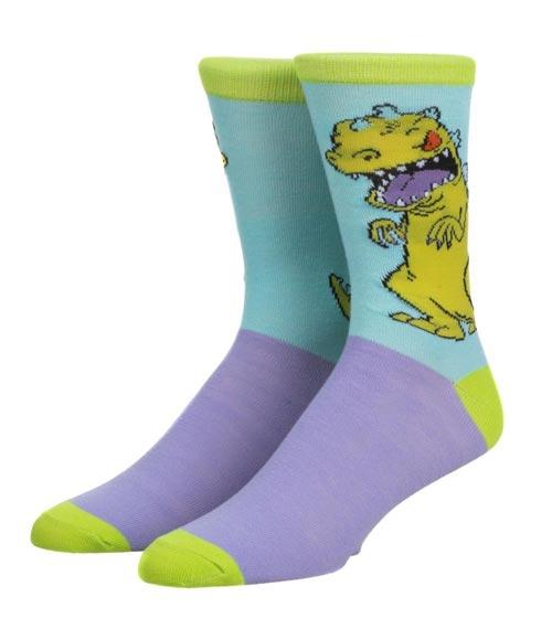 Rugrats Reptar Color Block Crew Socks
