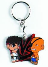Street Fighter Ryu vs Sagat Enamel Keychain