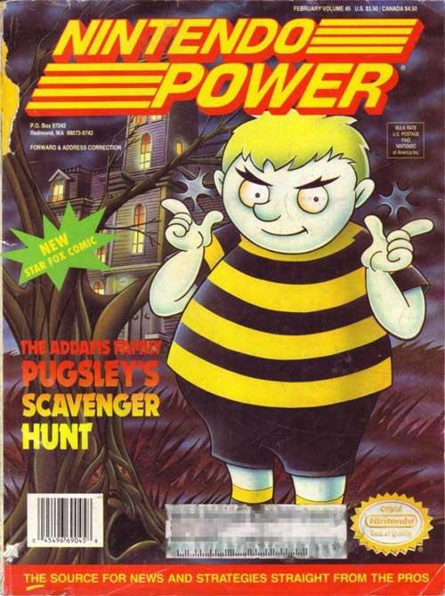Nintendo Power Volume 45 Pugsley's Scavenger Hunt
