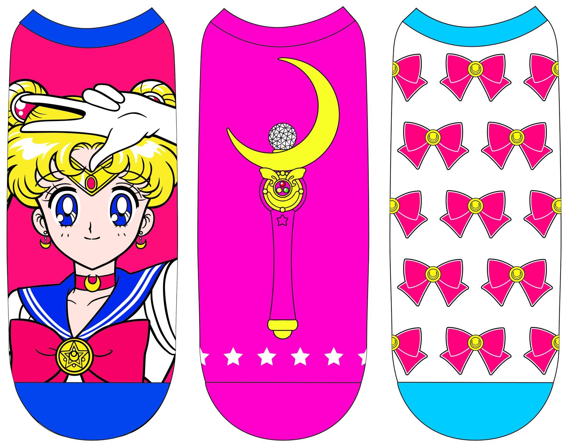 Sailor Moon Ladies Low Cut Socks 5 Pack