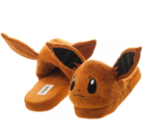 Pokemon Eevee Unisex Brown 3D Plush Slippers Small