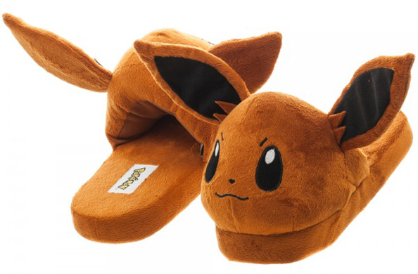 Pokemon Eevee Unisex Brown 3D Plush Slippers 6PPK
