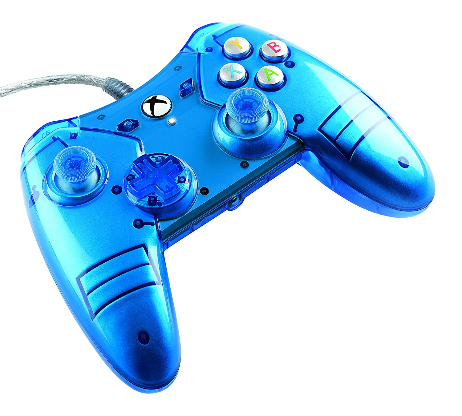 Xbox One Liquid Metal Blue Wired Controller