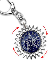 Black Butler: Sebastian's Faustian Contract Symbol Keychain