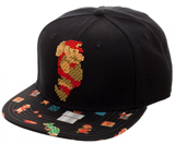 Mario 8 Bit Sublimated Bill Snapback