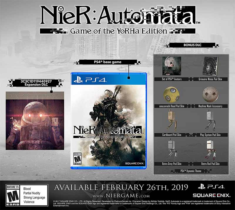 Nier Automata Game of The Yorha Edition all DLC