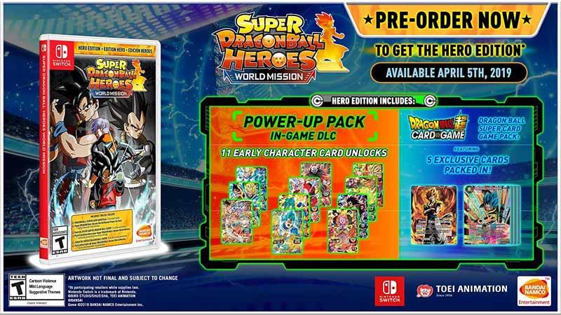Nintendo Switch Super Dragon Ball Heroes World Mission Hero Edition bonus items