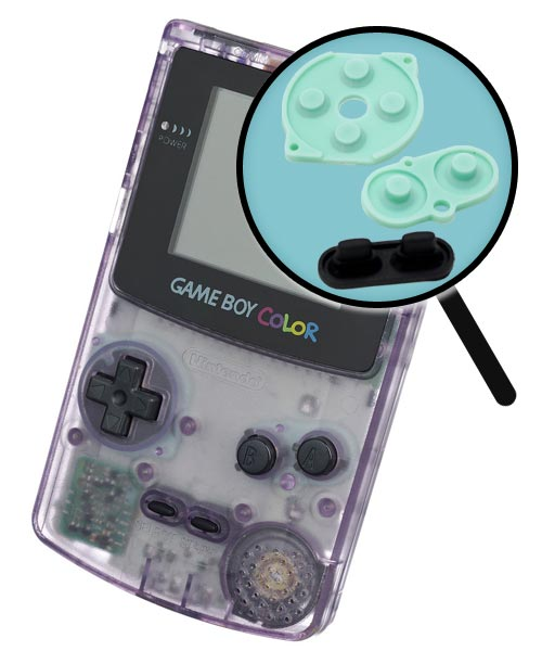 Game Boy Color Repairs: Rubber Button Replacement Service