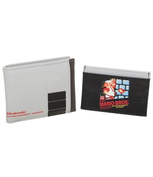 Nintendo Mario Bros Bi-Fold and Card Wallet Set