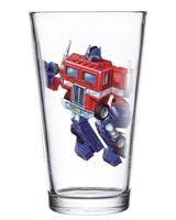 Transformers Optimus Prime 16 oz Pint Glass