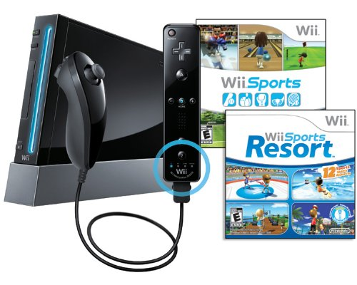 Nintendo Wii Console Black Bundle