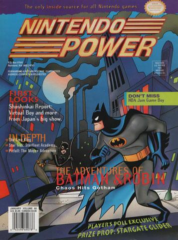 Nintendo Power Magazine Volume 68 Advenure of Batman & Robin