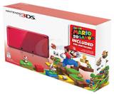 Nintendo 3DS Red System Super Mario 3D Land Bundle