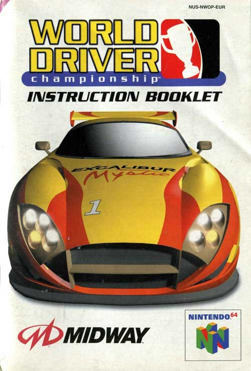 World Driver Championship (Instruction Manual)