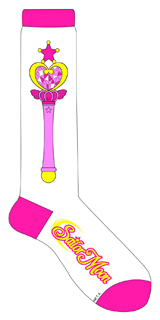Sailor Moon Chibi Moon Pink Moon Stick Knee High Socks