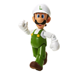 World of Nintendo 4 Inch Fire Luigi with Fire Flower Action Figure