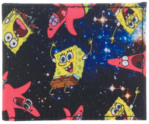 Sponge Bob Space Sublimated Bi-Fold Wallet
