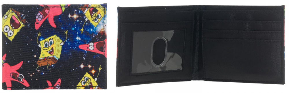Sponge Bob Space Sublimated BiFold Wallet