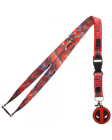Marvel Comics Deadpool Logo Lanyard With Charm