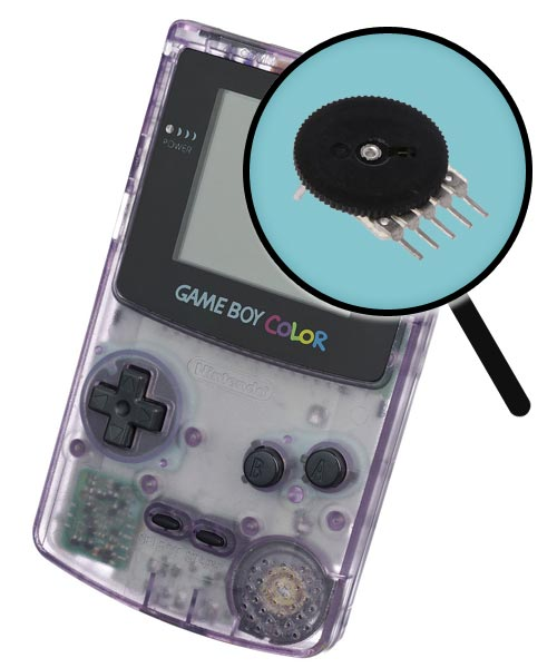 Game Boy Color Repairs: Volume Dial Replacement Service