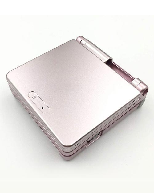 Game Boy Advance SP Housing Shell Replacement Service Metallic Pink
