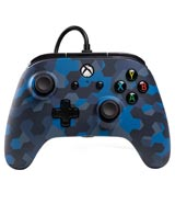 Xbox One Wired Controller Stealth Blue Camo