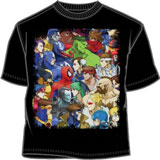 Marvel vs Capcom Old MVC Cover LG T-Shirt (Black)