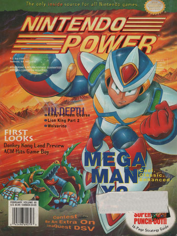 Nintendo Power Magazine Volume 69 Mega Man X2